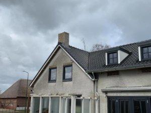 Zijaanzicht: nieuw dak en dakisolatie in Helvoirt